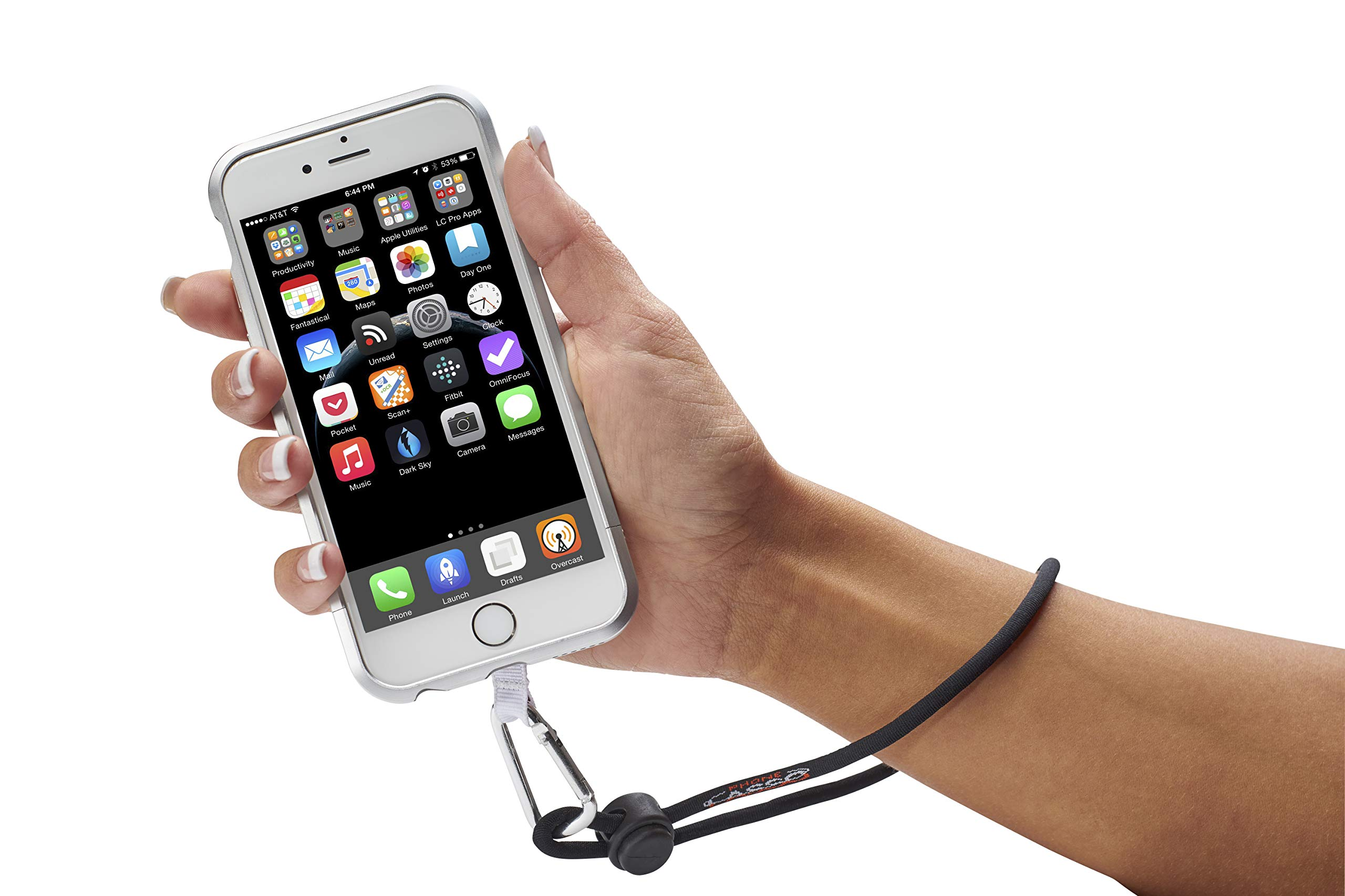 Phone Lasso Smartphone Wrist Strap & Neck Strap with Grip Patch