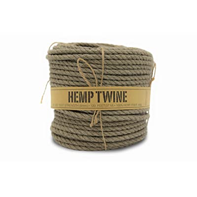 100% Hemp Twine Spool 5MM, 600G/120 Ft. - 280 Test Strength - Natural: Arts, Crafts & Sewing