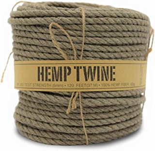 product image for 100% Hemp Twine Spool 5MM, 600G/120 Ft. - 280 Test Strength - Natural