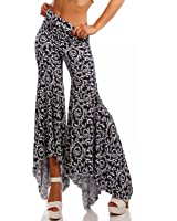 Hippie Strandhose Asymmetrische Volant Hose Boho Schlaghose