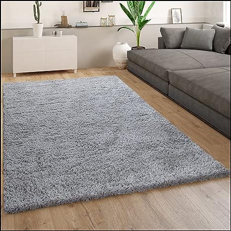 Flauschiger Shaggy Teppich Wohnzimmer Flurteppich Dicker Kuschelig Hochfloor 30