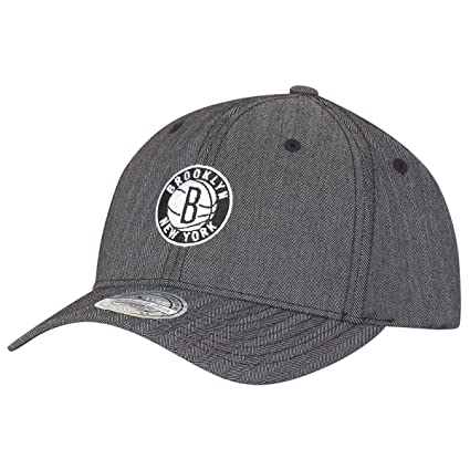 Amazon.com   Mitchell   Ness 110 Curved Snapback Cap - NY Brooklyn ... 3f9a3306a30