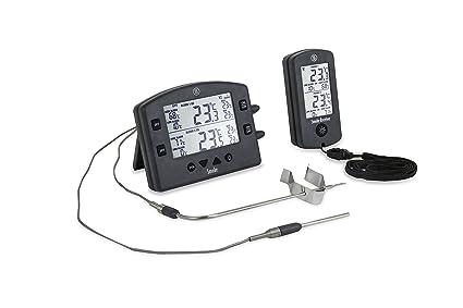 Humo La 2 Canal inalámbrico alarma termómetro de cocina barbacoa