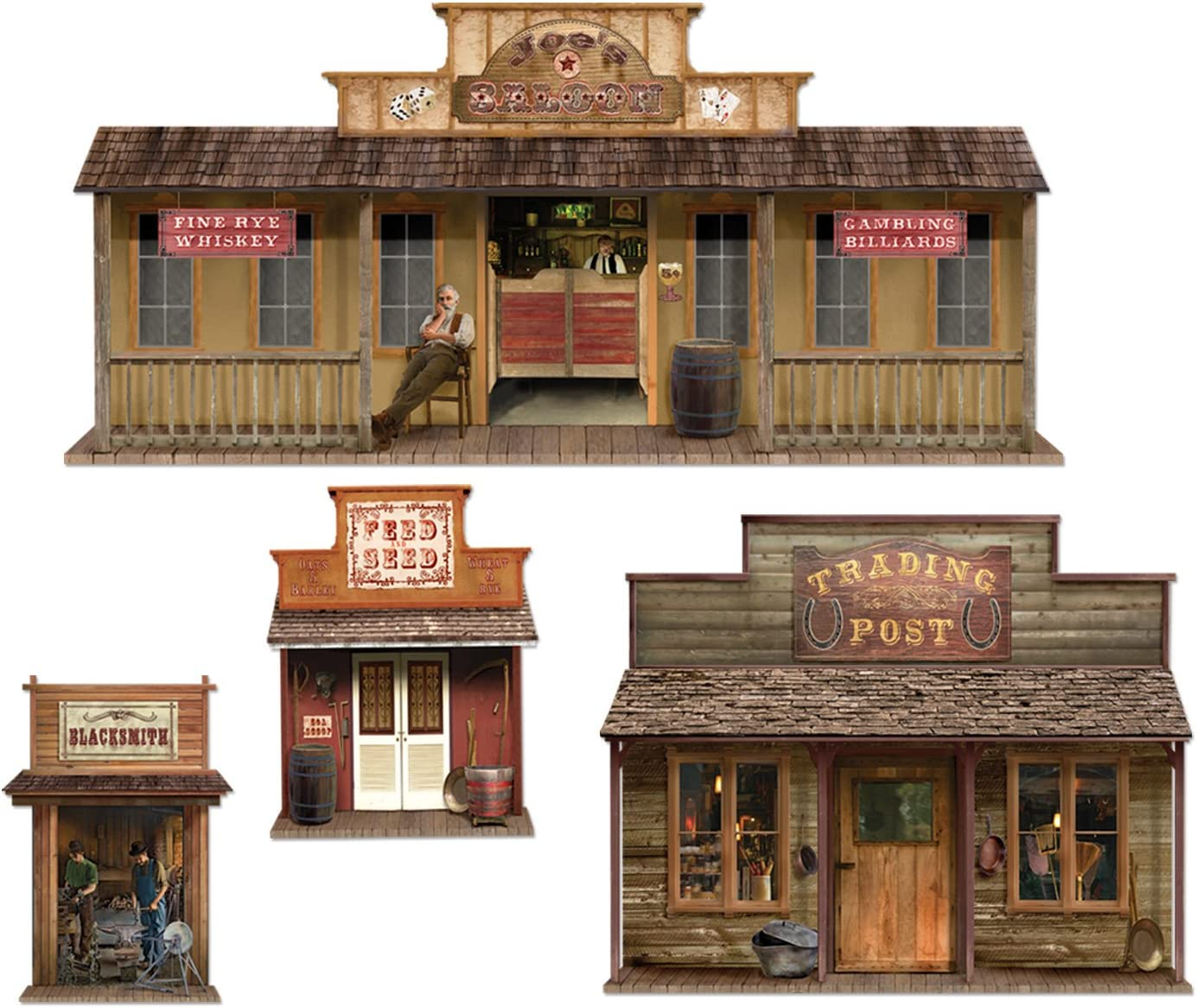 Wild West Town Props Party Accessory (1 count) (4/Pkg)