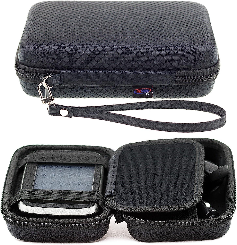 Negro Funda Duro Para TomTom Rider 500 550 450 420 42 410 400 Rider 40 GPS Sat Nav Con Asa y Compartimentos Para Accesorios