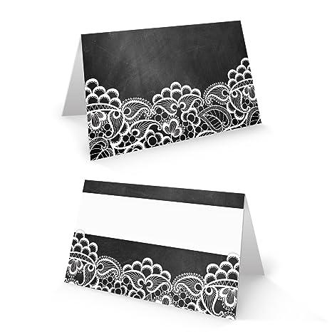 ec3992ac036 100 Kleine Negro Blanco Punta mesa Tarjeta Nombre tarjetas para nombres  Espacio tarjeta Asiento Tarjeta mesa