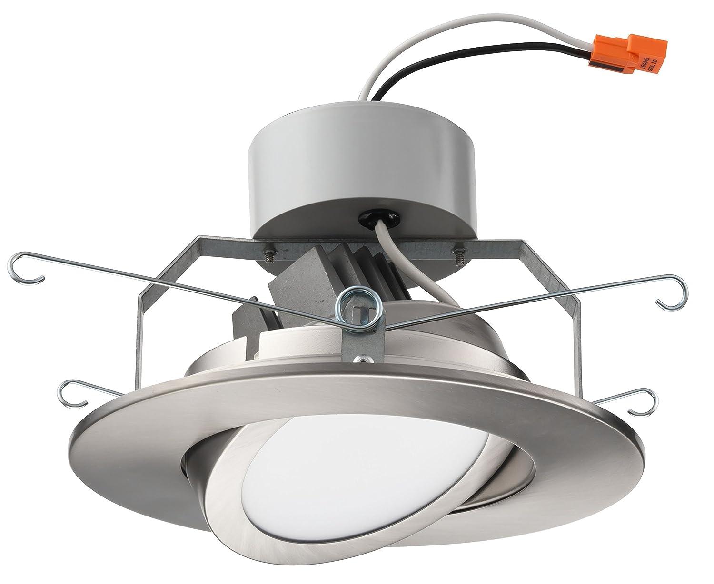 Brushed Nickel 6-Inch Lithonia Lighting 6G1BN LED 30K 90CRI M6 3000K LED Gimbal Module