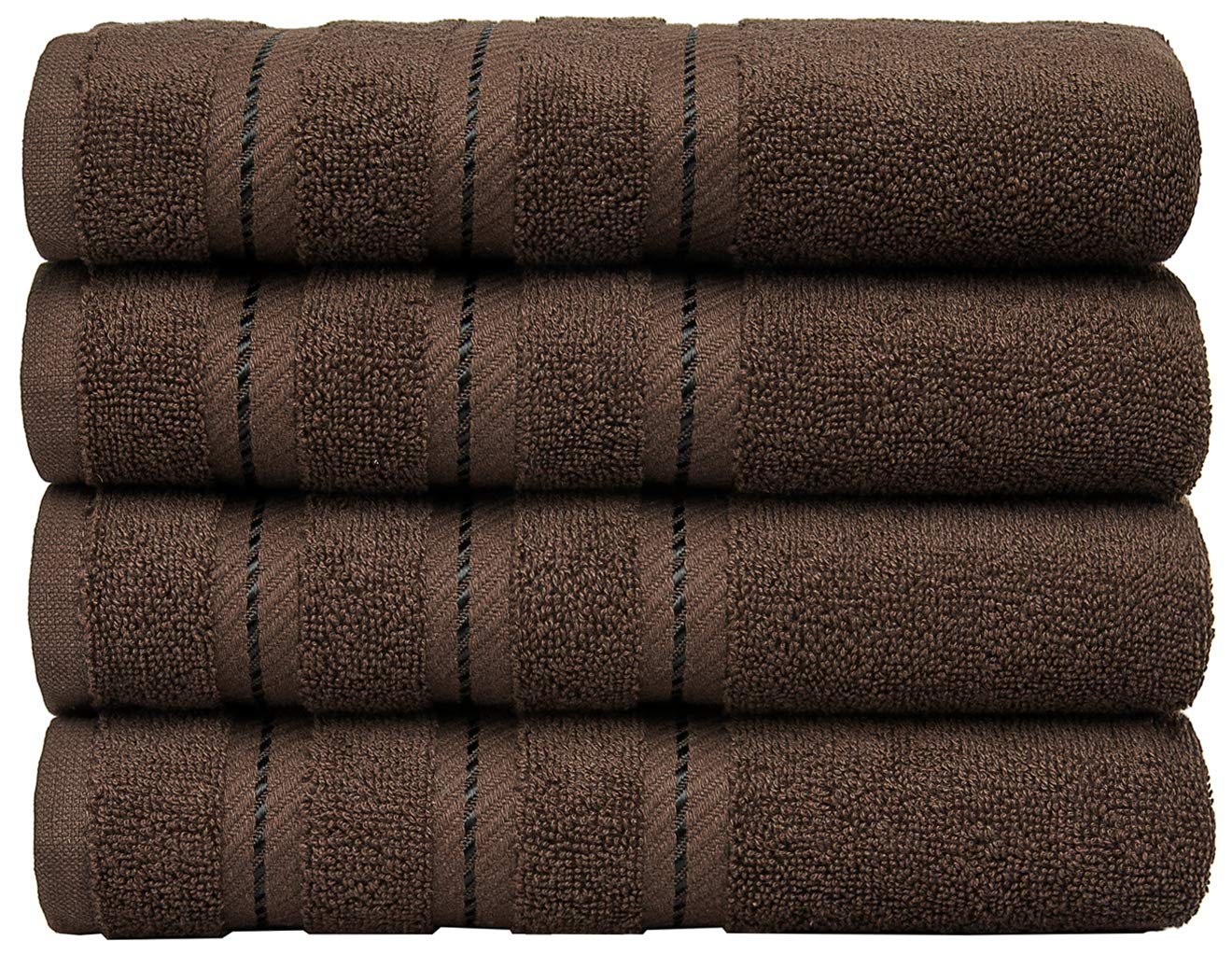 Premium, Turkish Towel Set, Luxury Hotel & Spa Towel Sets for Maximum Softness and Absorbency by American Soft Linen (Hand Towel Set, Chocolate Brown