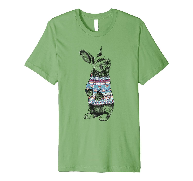 XMAS SWEATER RABBIT - Christmas - festive - funny T-shirt.-FL