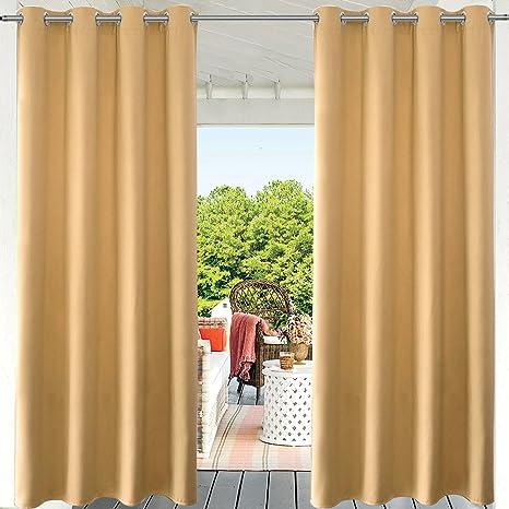 Amazon Com Pravive Patio Blackout Outdoor Curtains Heavy Duty