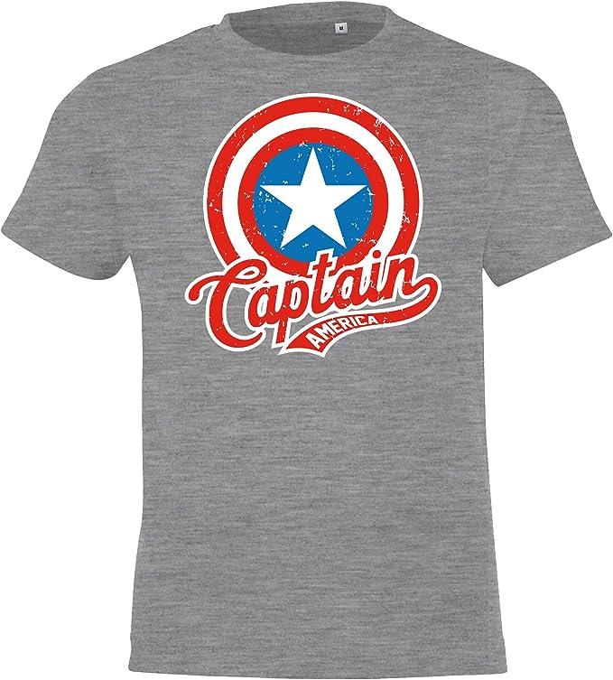 Maglietta da Bambino Modello Captain America TRVPPY 12 Anni in Diversi Colori. Taglia 2