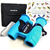 High-Resolution Kids Binoculars Set 8x21 - Bird Watching - Educational Learning - Birthday Gift- Hunting - Outdoor Camp - ( Rubber Shock Proof and Prism Coating )