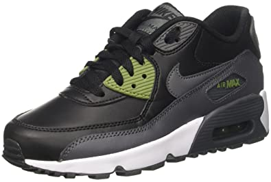 NIKE Air Max 90 LTR (GS) Big Kids Shoes Black/Dark Grey/