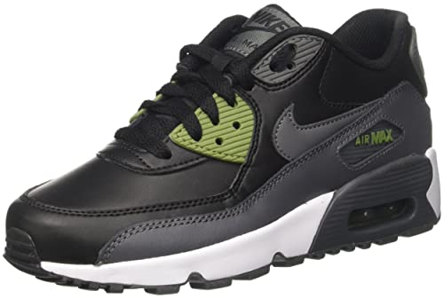competitive price d8485 391ae Nike AIR MAX 90 LTR (GS) 5Y 833412 008 Damen Sneaker schwarz grau