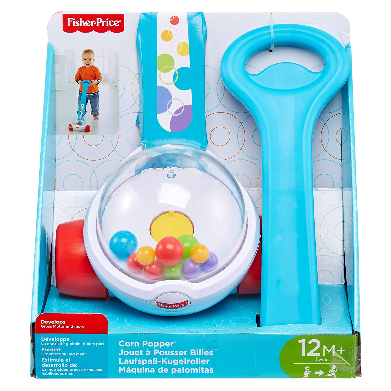 pour b/éb/é d/ès 12 mois FGY72 Fisher-Price jouet /à pousser rempli de billes