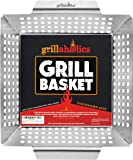 Grillaholics Heavy Duty Grill Basket - Large Grilling Basket for More Vegetables - Stainless Steel Grilling Accessories…
