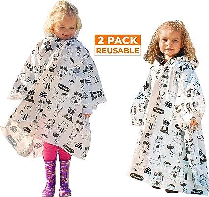 Kids Rain Ponchos 4 Co Pack of 20 Raincoats Hood Disposable Emergency Poncho