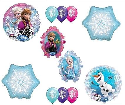 Amazon.com: Globos para fiesta de cumpleaños Frozen Anna ...