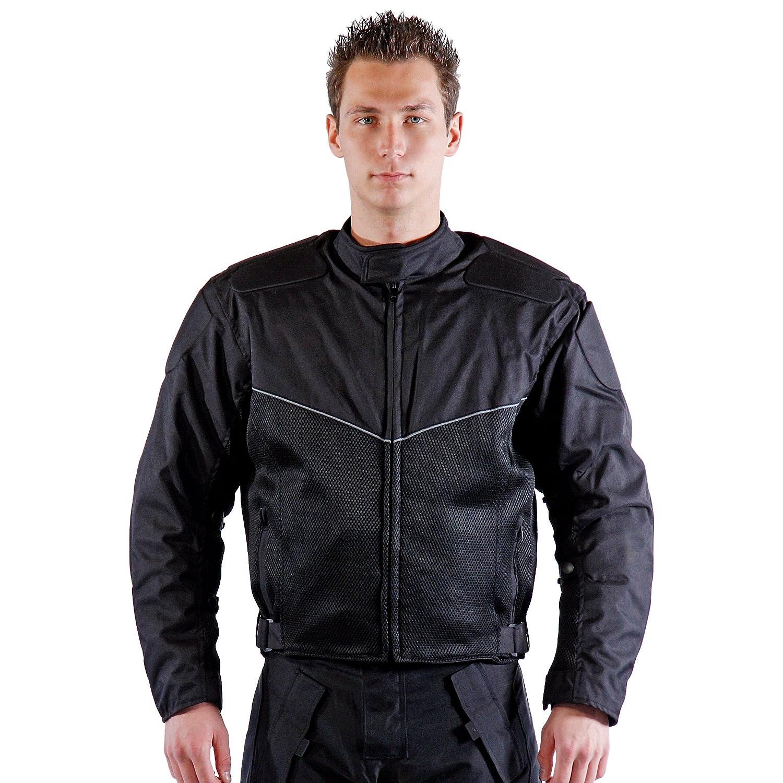 lemoko textil Moto Chaqueta malla negro