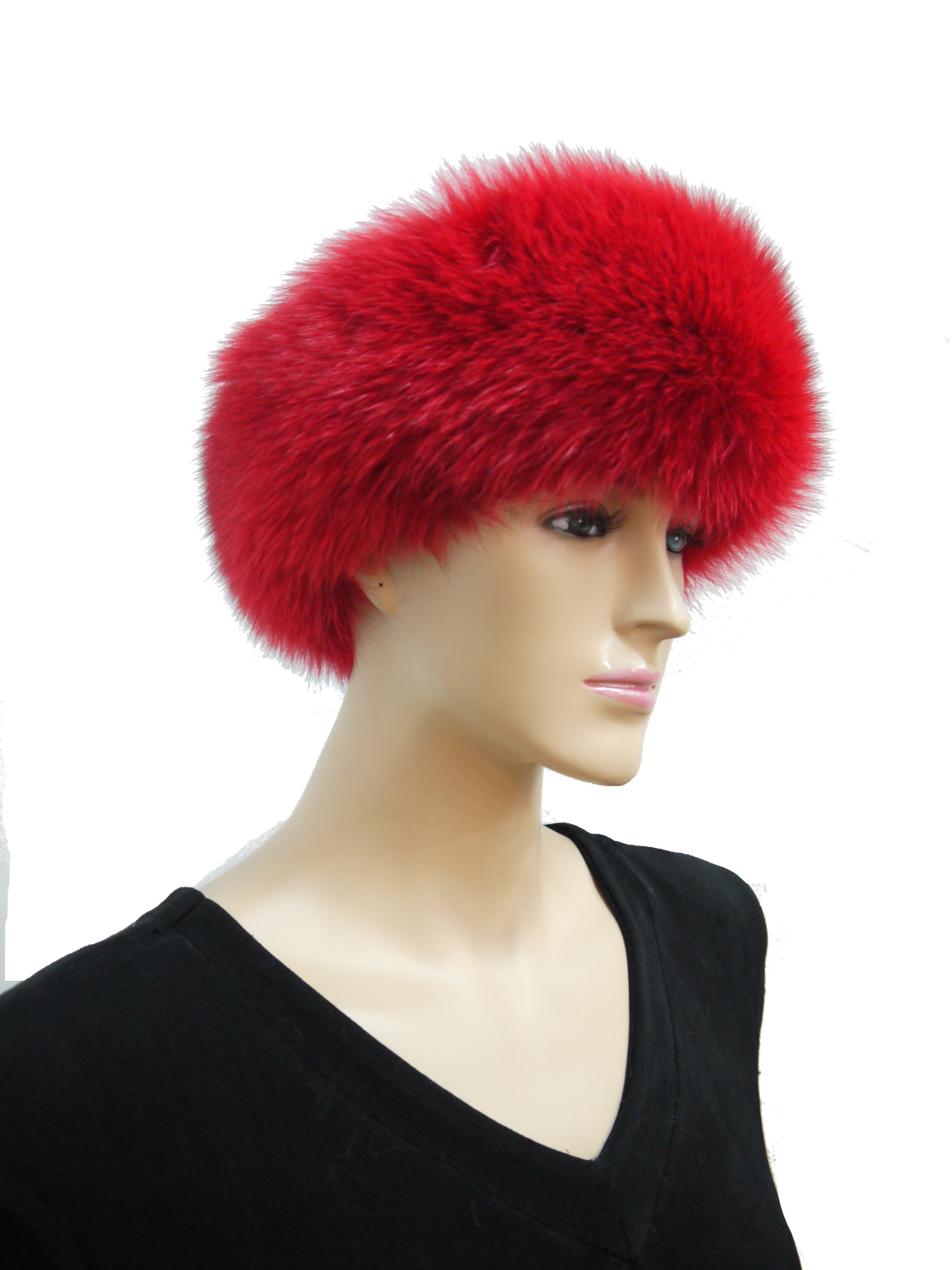 Fox Fur Headband (Red) by Hima