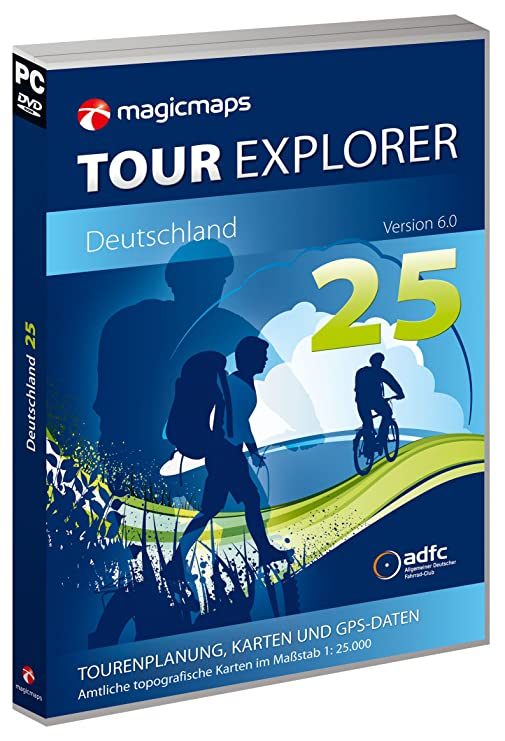 MagicMaps Routenplanungsoftware DVD Tour Explorer 25 Set West V6.0 Nw/He/Rp/Sl, FA003560031