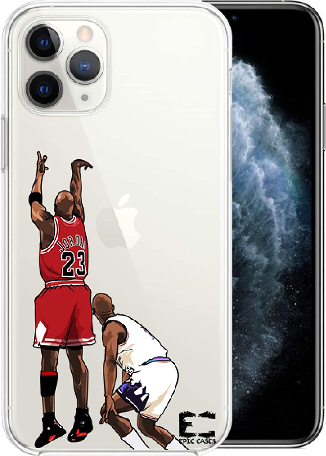 Epic Cases iPhone 6 Plus iPhone 7/iPhone 8 Plus Case Ultra Slim Crystal Clear Basketball Series Soft Transparent TPU Case Cover Apple (MJ, iPhone 6/7/8 Plus)