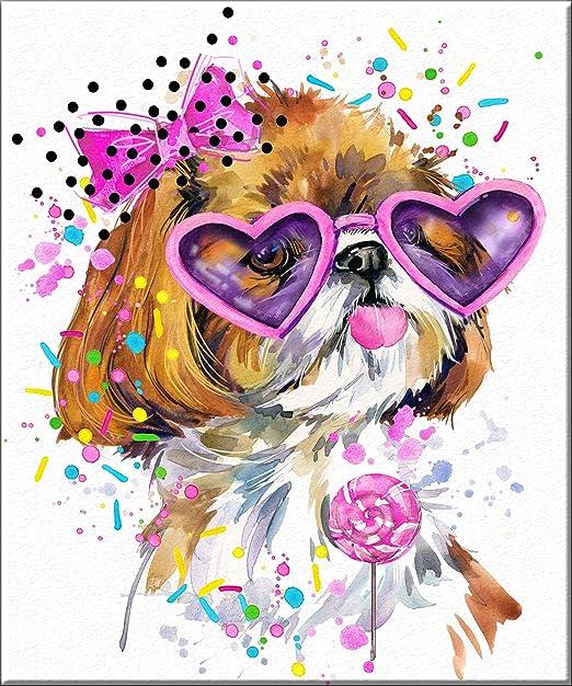 Jack Russell terrier 8x10  art print animals impressionism bathroom new