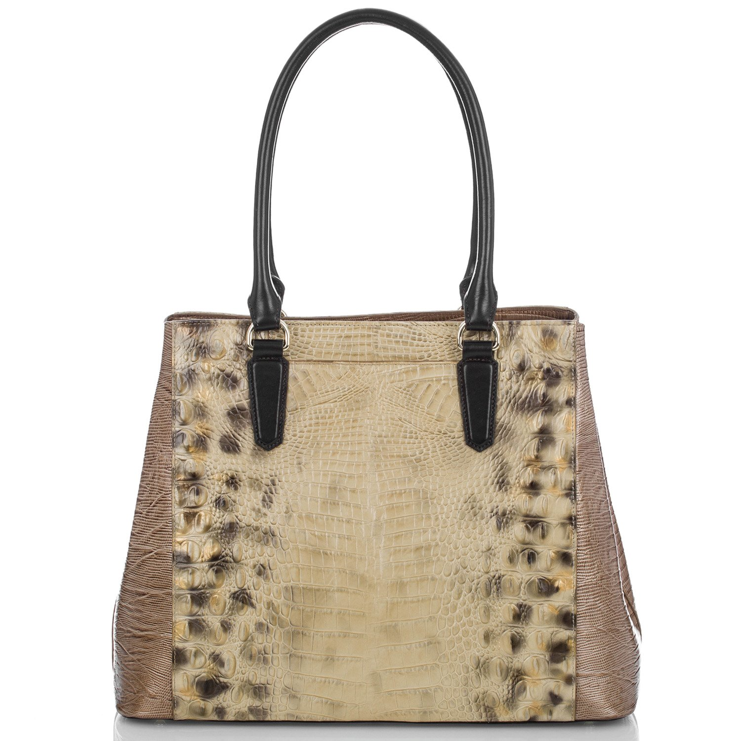 Brahmin Ventana Collection Joan Embossed Leather Tote in Summer Tortoise