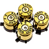 PS4 Bullet Buttons Gold Silver Made Using Real Once Fired 9M