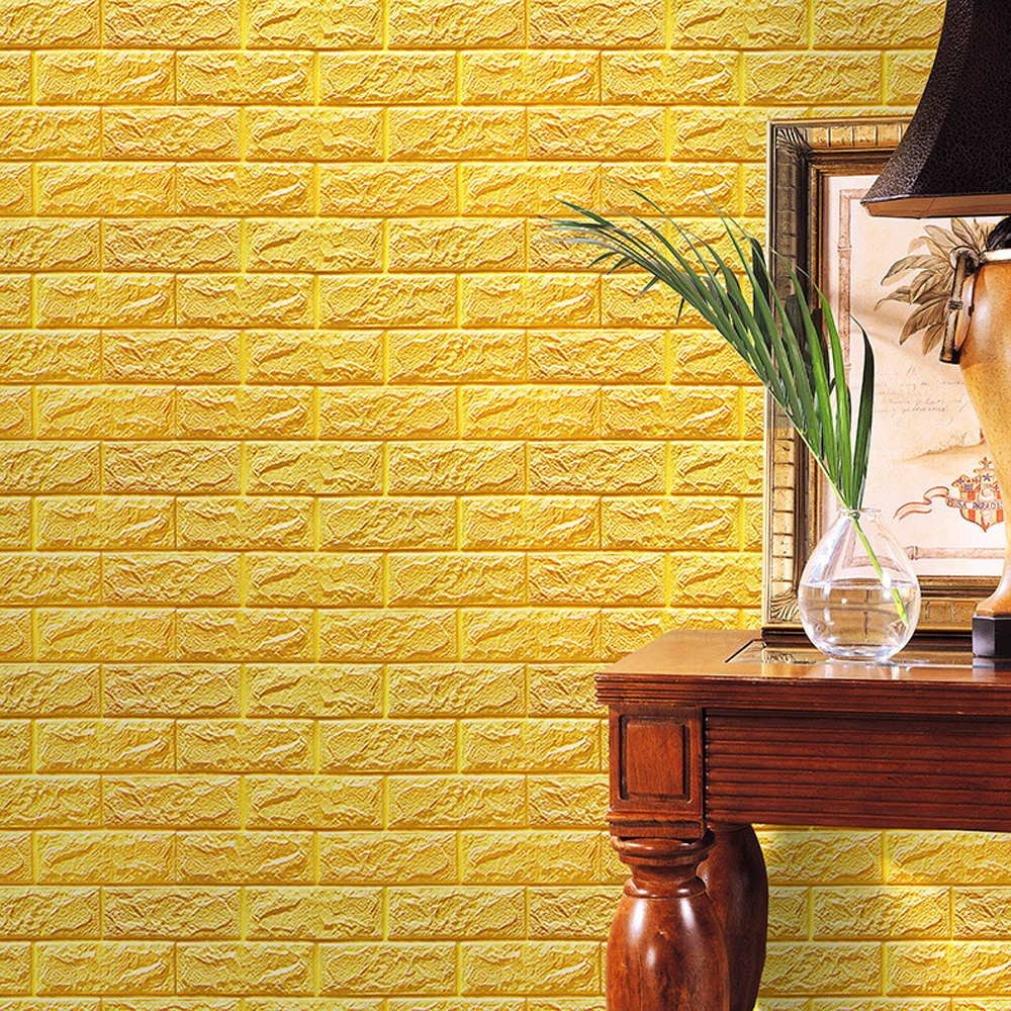 Amazon.com: PE Foam 3D Wallpaper REYO 3D Wall Paper Brick DIY Wall ...