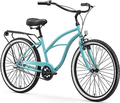 sixthreezero Around The Block Bicicleta Cruiser para Mujer (61 cm ...