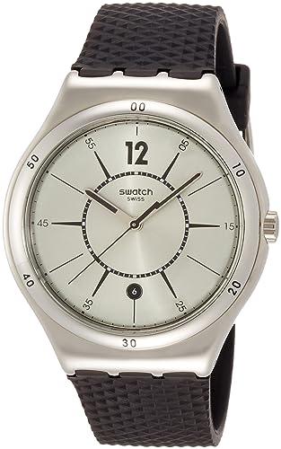 Swatch Reloj Digital para Hombre de Cuarzo con Correa en Silicona YWS406: Amazon.es: Relojes
