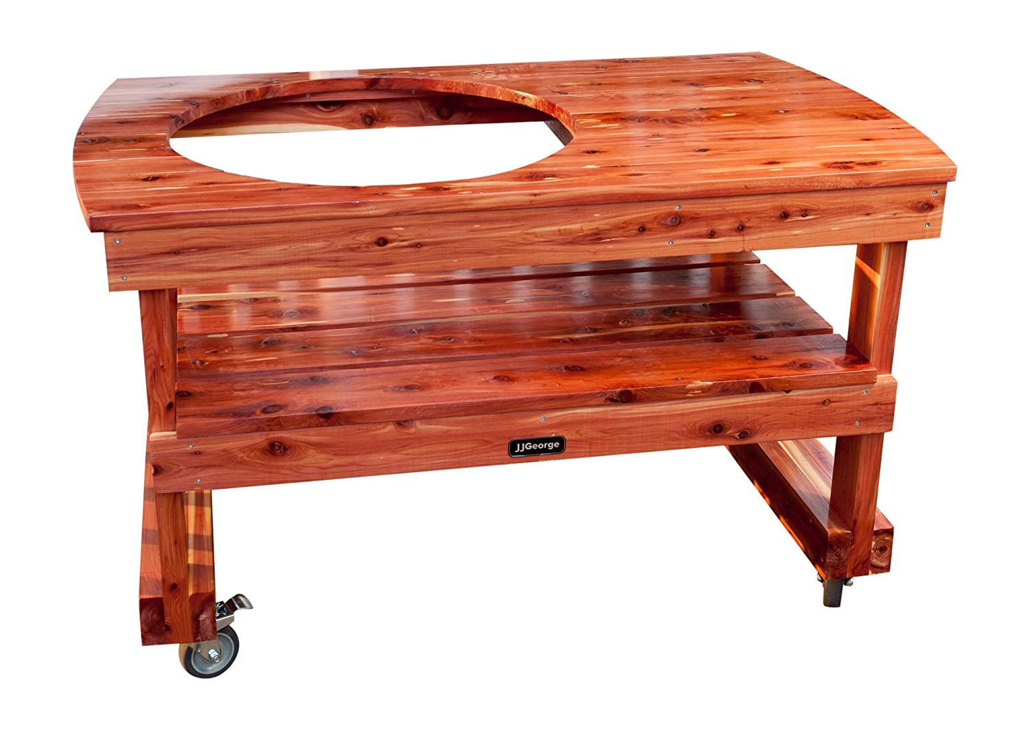 JJ George Table for (Extra Large) Big Green Egg w/Free Cover