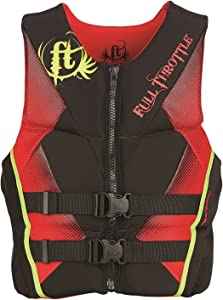 Full Throttle Men's Hinged Rapid-Dry Flex-Back Life Vest