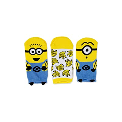 Despicable Me Minions 3D Pop Up 3 Pack Shortie Socks