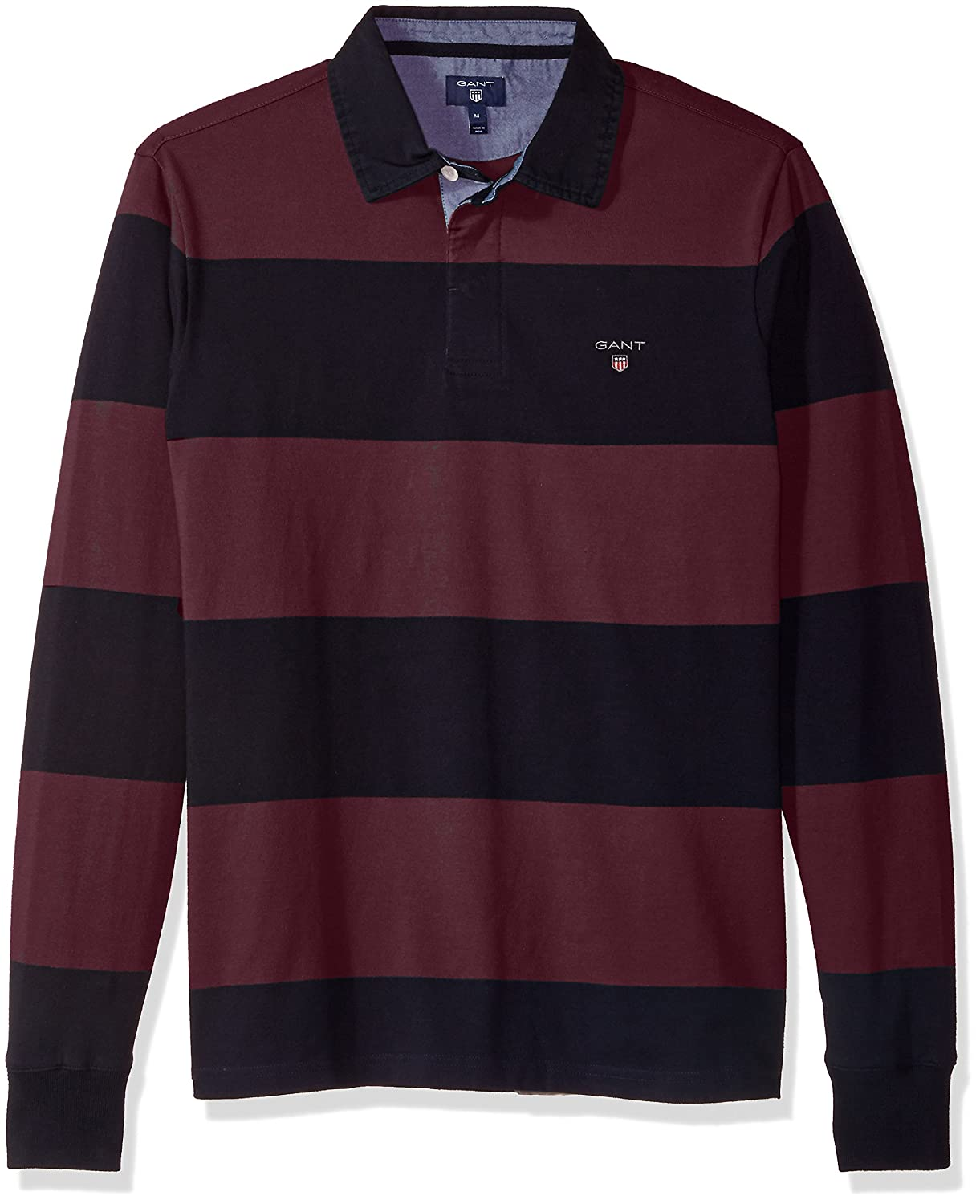 Gant Mens Long-Sleeved Bar Striped Rugby Shirt, Polo para Hombre ...