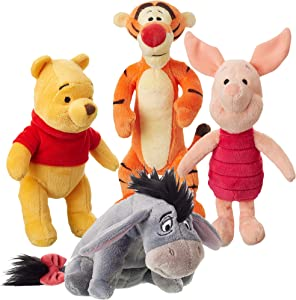 Winnie the Pooh Stuffed Animal Set and Friends Plush Toys