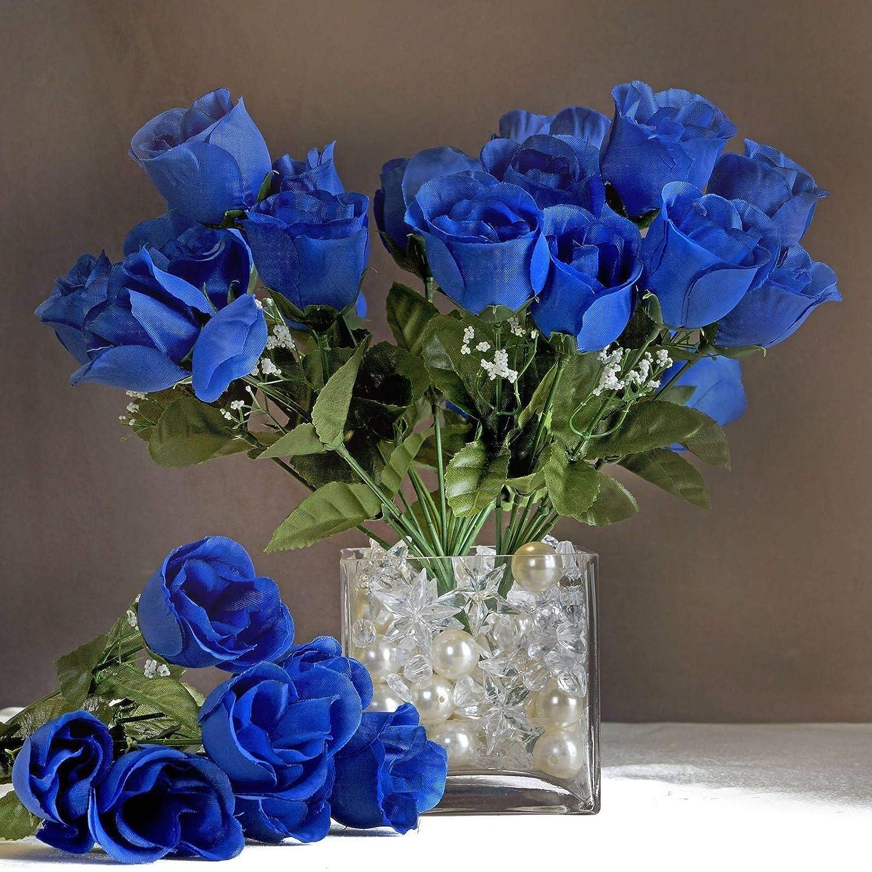 Efavormart 84 Artificial Buds Roses for DIY Wedding Bouquets Centerpieces  Arrangements Party Home Decoration Supply , Royal Blue