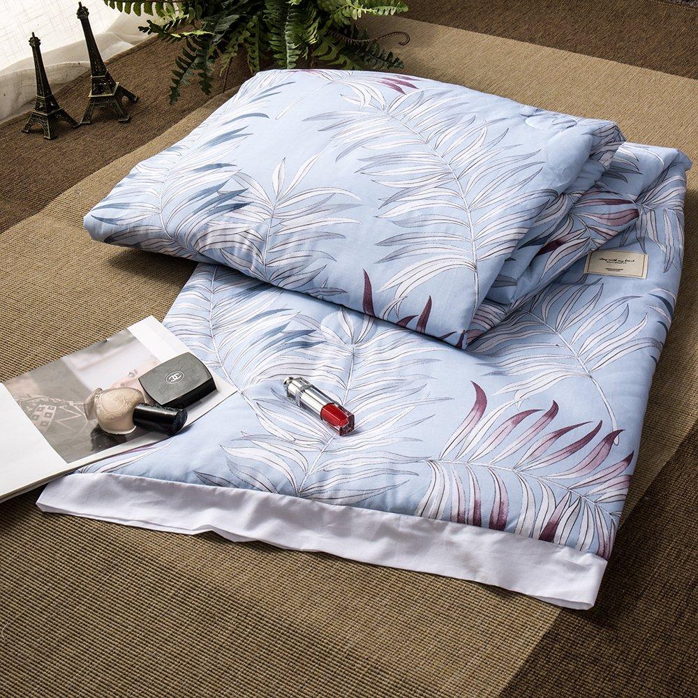 Enjoylife Flowers Printed Patterns 1-Piece Thin Quilt Cotton + Modal Summer Comforter 200x230 cm Bedspread Flower 6