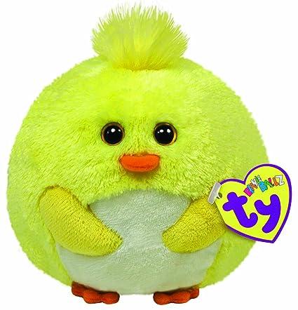 Amazon.com  Ty Beanie Ballz Eggbert Yellow Chick  Toys   Games 6d88d252a9c4