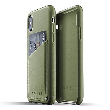 40c29e81255 Mujjo - Funda para iPhone X, Color Verde Oliva: Amazon.es: Electrónica