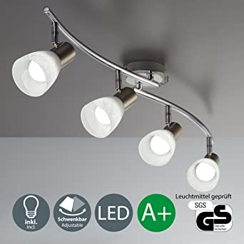 LED Decken-Strahler I 4 flammig I Schlafzimmer-Leuchte I drehbar I ...