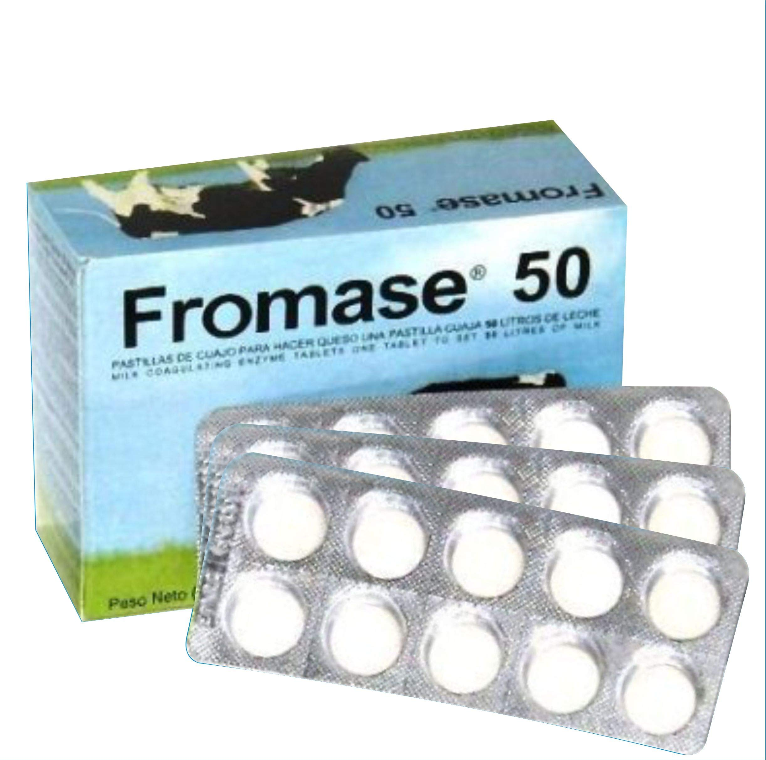 RENNET TABLETS/Fromase 50/30 TABLETS / 30 PASTILLAS / 30 TABLETTES Made in France