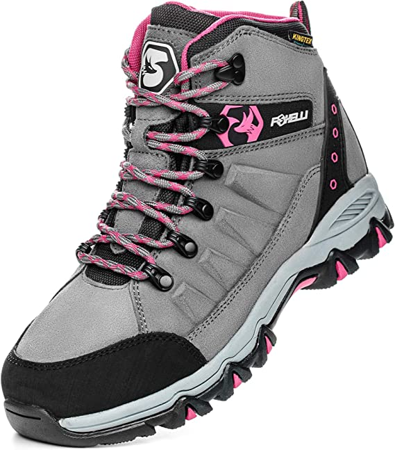 Foxelli Women's Hiking Boots – Waterproof Hiking Shoes for Women