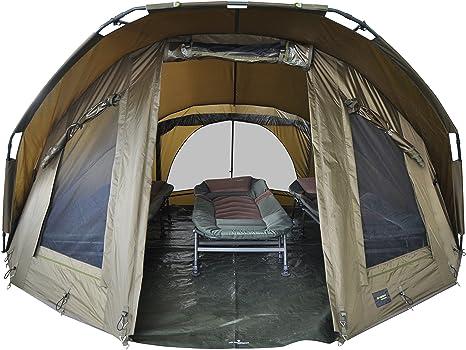 MK Angelsport Fort Knox 3 4 Personen Dome Innenhöhe: 1.8m Zelt Karpfenzelt wasserfest und temperaturstabiles Angelzelt incl. Gummihammer