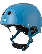Triple Eight Lil 8 Dual Certified Sweatsaver - Monopatín y Casco de Bicicleta para niños con Hebilla Acolchada en la Barbilla