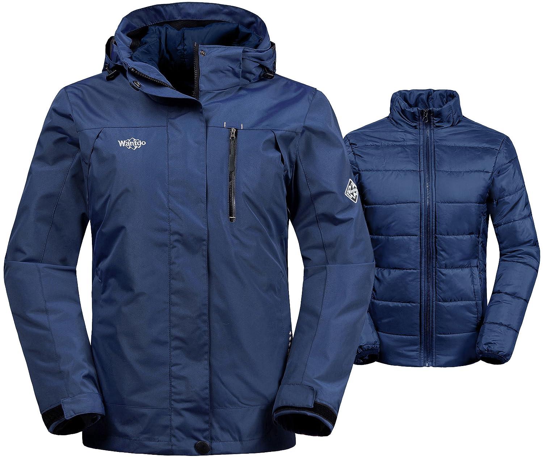 Wantdo Women's Winter Ski Jacket Water Resistant 3-in-1 Jacket Puff Liner HWLBL1689women