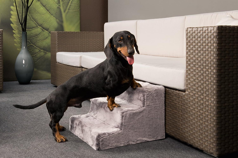 Escaleras para perro con funda extrable en color beige 43 x 41 x escaleras para perro con funda extrable en color beige 43 x 41 x 29 cm largo x ancho x alto amazon productos para mascotas fandeluxe Images