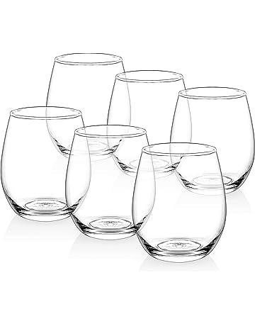 33dc112055a0  Set of 6  Zuzoro Stemless Wine Glasses - 15oz - Decorative Long-lasting