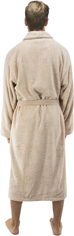 Comfy Robes Men S Deluxe 20 Oz Turkish Terry Bathrobe Xs Beige At Amazon Men S Clothing Store